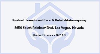 Kindred Transitional Care & Rehabilitation-Spring