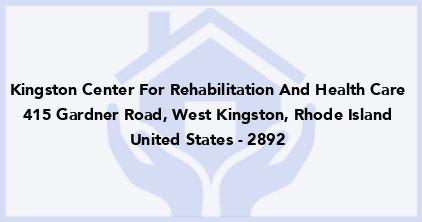 Kingston Center For Rehabilitation And Health Care