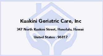 Kuakini Geriatric Care, Inc