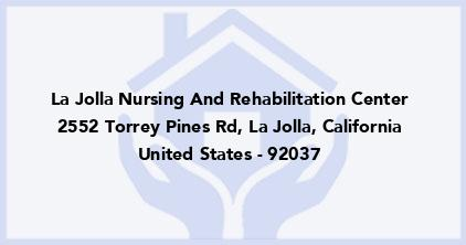 La Jolla Nursing And Rehabilitation Center