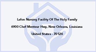Lafon Nursing Facility Of The Holy Family