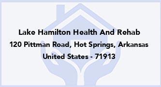 Lake Hamilton Health And Rehab
