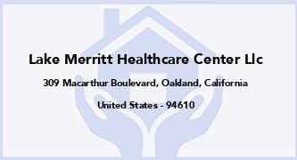 Lake Merritt Healthcare Center Llc