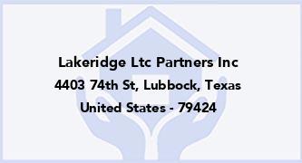 Lakeridge Ltc Partners Inc