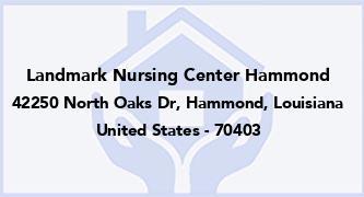 Landmark Nursing Center Hammond