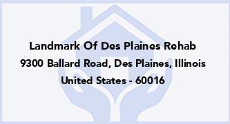 Landmark Of Des Plaines Rehab