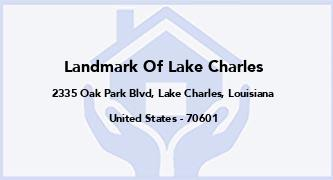 Landmark Of Lake Charles