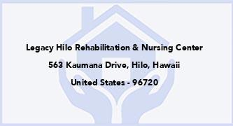 Legacy Hilo Rehabilitation & Nursing Center