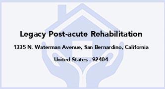 Legacy Post-Acute Rehabilitation