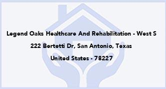 Legend Oaks Healthcare And Rehabilitation - West S