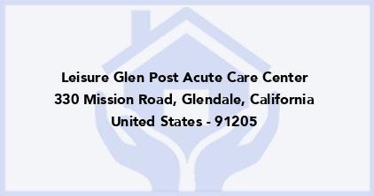 Leisure Glen Post Acute Care Center