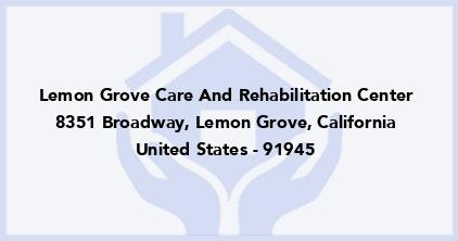 Lemon Grove Care And Rehabilitation Center