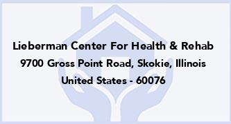 Lieberman Center For Health & Rehab