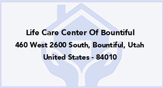Life Care Center Of Bountiful