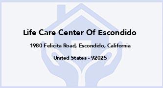 Life Care Center Of Escondido