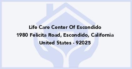 Life Care Center Of Escondido