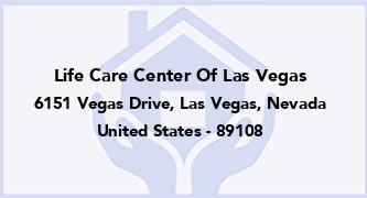 Life Care Center Of Las Vegas