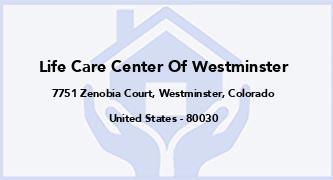 Life Care Center Of Westminster