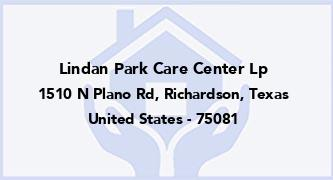 Lindan Park Care Center Lp
