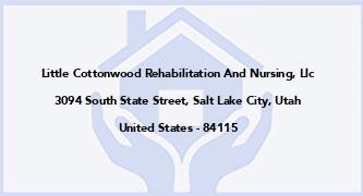 Little Cottonwood Rehabilitation And Nursing, Llc