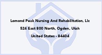 Lomond Peak Nursing And Rehabilitation, Llc