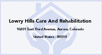 Lowry Hills Care And Rehabilitation