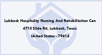 Lubbock Hospitality Nursing And Rehabilitation Cen
