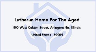 Lutheran Home For The Aged