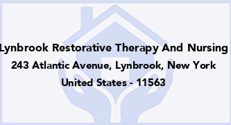 Lynbrook Restorative Therapy And Nursing