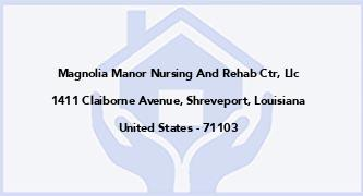 Magnolia Manor Nursing And Rehab Ctr, Llc