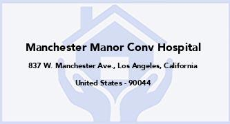 Manchester Manor Conv Hospital
