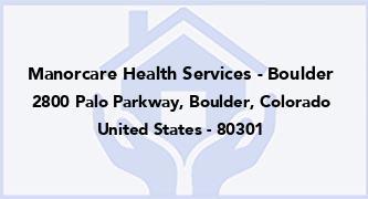 Manorcare Health Services - Boulder
