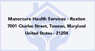 Manorcare Health Services - Ruxton