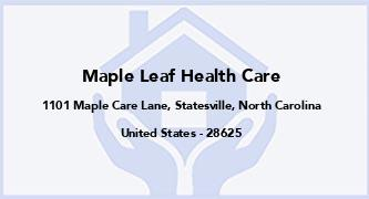 Maple Leaf Health Care