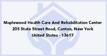 Maplewood Health Care And Rehabilitation Center