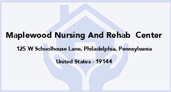 Maplewood Nursing And Rehab  Center
