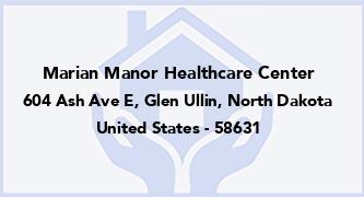 Marian Manor Healthcare Center