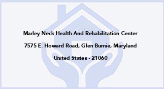 Marley Neck Health And Rehabilitation Center