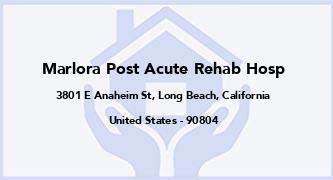 Marlora Post Acute Rehab Hosp