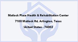 Matlock Place Health & Rehabilitation Center