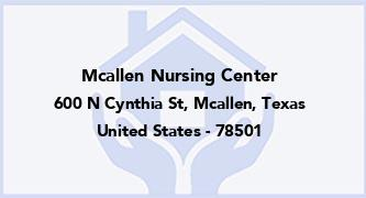 Mcallen Nursing Center