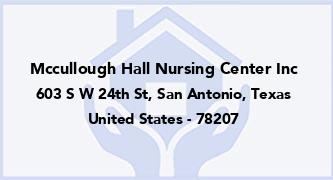 Mccullough Hall Nursing Center Inc