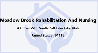 Meadow Brook Rehabilitation And Nursing
