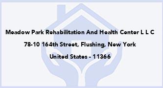 Meadow Park Rehabilitation And Health Center L L C