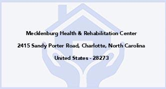 Mecklenburg Health & Rehabilitation Center