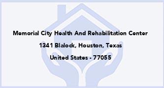 Memorial City Health And Rehabilitation Center