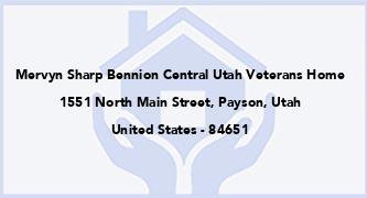 Mervyn Sharp Bennion Central Utah Veterans Home