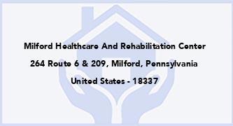 Milford Healthcare And Rehabilitation Center