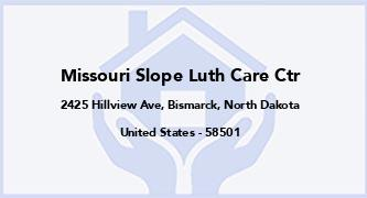 Missouri Slope Luth Care Ctr