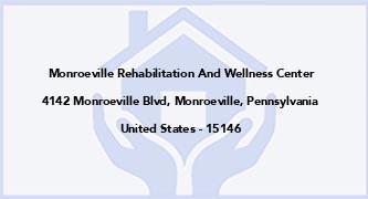Monroeville Rehabilitation And Wellness Center